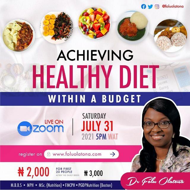 Healthy Diet Webinar